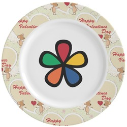 Mouse Love Ceramic Dinner Plates (Set of 4) (Personalized)