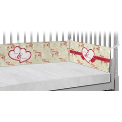 Mouse Love Crib Bumper Pads (Personalized)