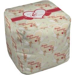 Mouse Love Cube Pouf Ottoman (Personalized)