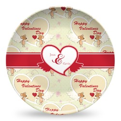 Mouse Love Microwave Safe Plastic Plate - Composite Polymer (Personalized)