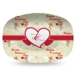 Mouse Love Plastic Platter - Microwave & Oven Safe Composite Polymer (Personalized)