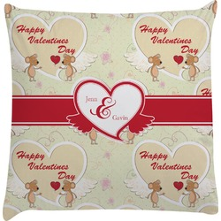 Mouse Love Decorative Pillow Case (Personalized)