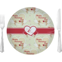 "Mouse Love Glass Lunch / Dinner Plates 10"" - Single or Set (Personalized)"