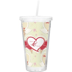 Mouse Love Double Wall Tumbler with Straw (Personalized)