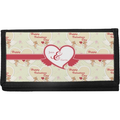 Mouse Love Canvas Checkbook Cover (Personalized)