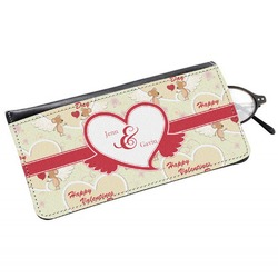 Mouse Love Genuine Leather Eyeglass Case (Personalized)
