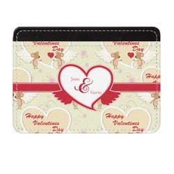 Mouse Love Genuine Leather Front Pocket Wallet (Personalized)