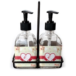 Mouse Love Soap & Lotion Dispenser Set (Glass) (Personalized)