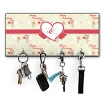 Mouse Love Key Hanger w/ 4 Hooks w/ Couple's Names
