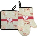 Mouse Love Oven Mitt & Pot Holder (Personalized)