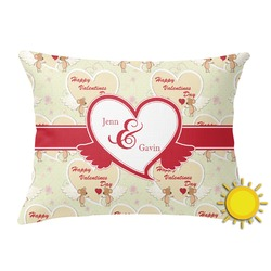 Mouse Love Outdoor Throw Pillow (Rectangular) (Personalized)