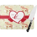 Mouse Love Rectangular Glass Cutting Board (Personalized)