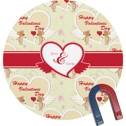 Mouse Love Round Magnet (Personalized)
