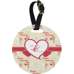 Mouse Love Round Luggage Tag (Personalized)
