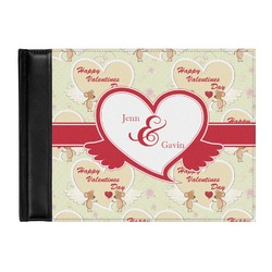 Mouse Love Genuine Leather Guest Book (Personalized)