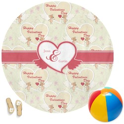 Mouse Love Round Beach Towel (Personalized)