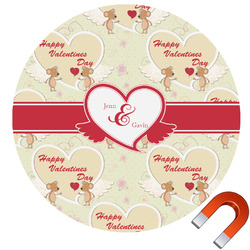 Mouse Love Round Car Magnet (Personalized)