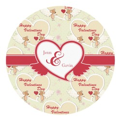 Mouse Love Round Wall Decal (Personalized)