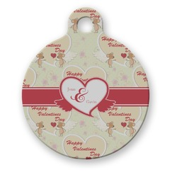 Mouse Love Round Pet Tag (Personalized)