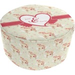 Mouse Love Round Pouf Ottoman (Personalized)
