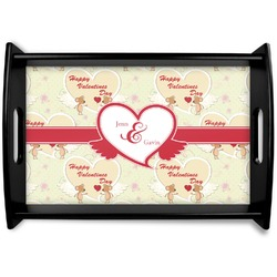 Mouse Love Black Wooden Tray - Small (Personalized)