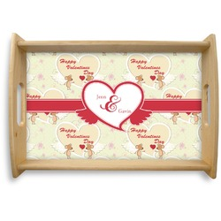 Mouse Love Natural Wooden Tray (Personalized)
