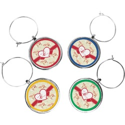 Mouse Love Wine Charms (Set of 4) (Personalized)