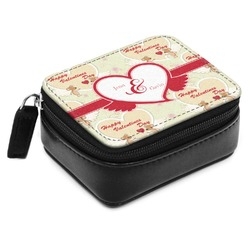 Mouse Love Small Leatherette Travel Pill Case (Personalized)