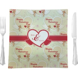 Mouse Love Glass Square Lunch / Dinner Plate 9.5