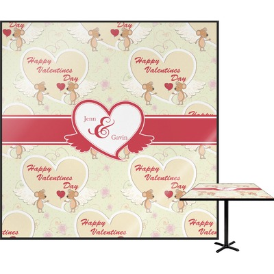 Mouse Love Square Table Top (Personalized)