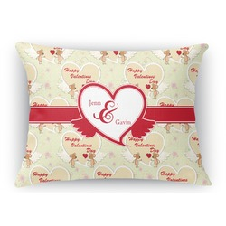 Mouse Love Rectangular Throw Pillow (Personalized)
