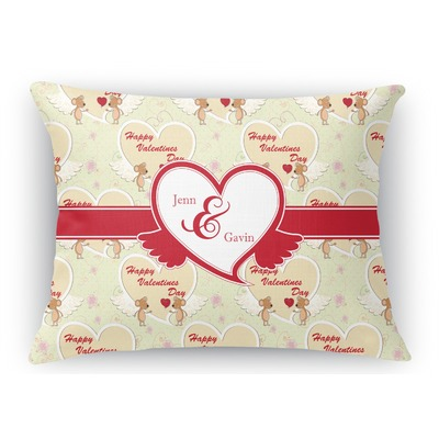 Mouse Love Rectangular Throw Pillow Case (Personalized)
