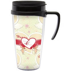 Mouse Love Travel Mug with Handle (Personalized)