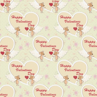 Mouse Love Wrapping Paper (Personalized)