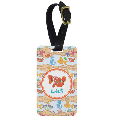Under the Sea Metal Luggage Tag w/ Name or Text