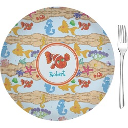"Under the Sea 8"" Glass Appetizer / Dessert Plates - Single or Set (Personalized)"