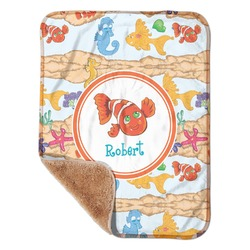 "Under the Sea Sherpa Baby Blanket 30"" x 40"" (Personalized)"