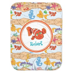 Under the Sea Baby Swaddling Blanket (Personalized)