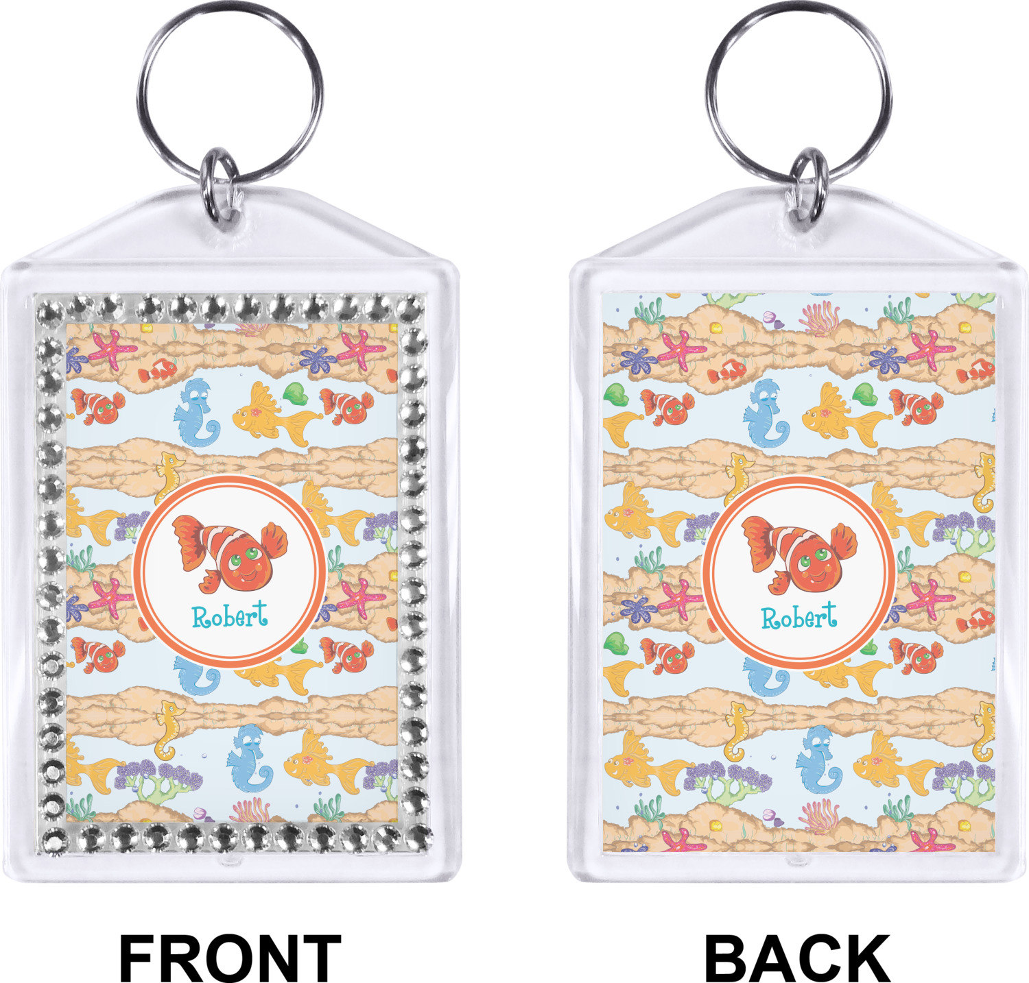 Under the Sea Bling Keychain (Personalized) - YouCustomizeIt 91ef09b6ccfc