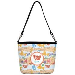 Under the Sea Bucket Bag w/ Genuine Leather Trim (Personalized)