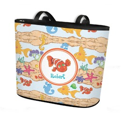 Under the Sea Bucket Tote w/ Genuine Leather Trim (Personalized)