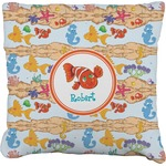 Under the Sea Faux-Linen Throw Pillow (Personalized)