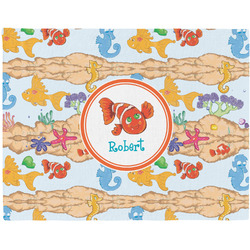 Under the Sea Woven Fabric Placemat - Twill w/ Name or Text
