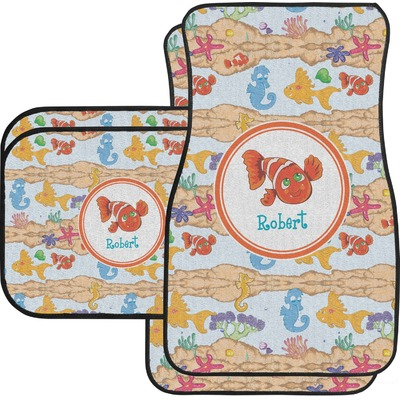 under the sea car floor mats front seat personalized you customize it. Black Bedroom Furniture Sets. Home Design Ideas
