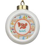 Under the Sea Ceramic Ball Ornament (Personalized)