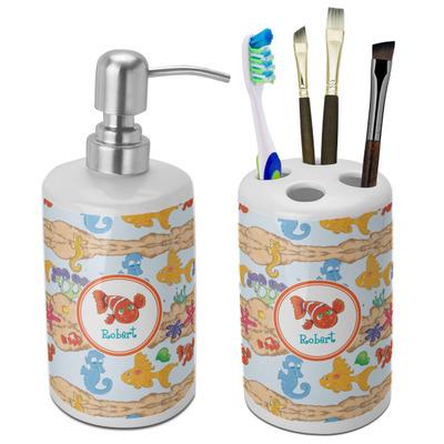 Under the Sea Ceramic Bathroom Accessories Set (Personalized)