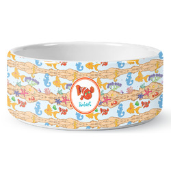 Under the Sea Ceramic Dog Bowl (Personalized)