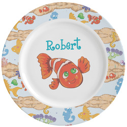 Under the Sea Ceramic Dinner Plates (Set of 4) (Personalized)