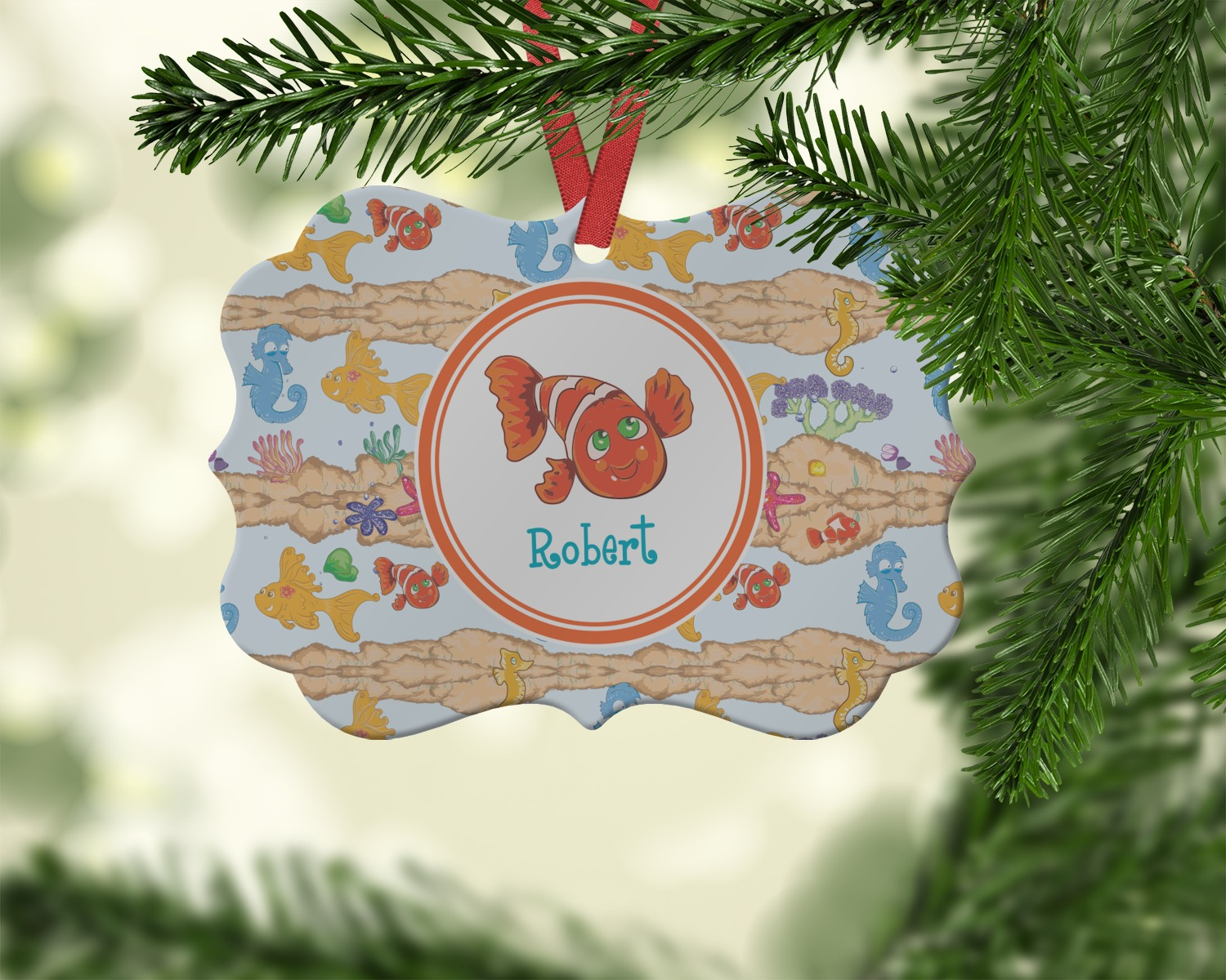 Under The Sea Ornament Personalized Youcustomizeit