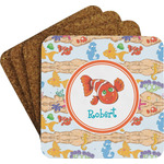 Under the Sea Cork Coaster - Set of 4 w/ Name or Text
